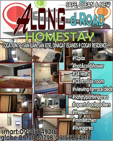 Along D Road Homestay(Fam Room 1) Dinagat,San Jose