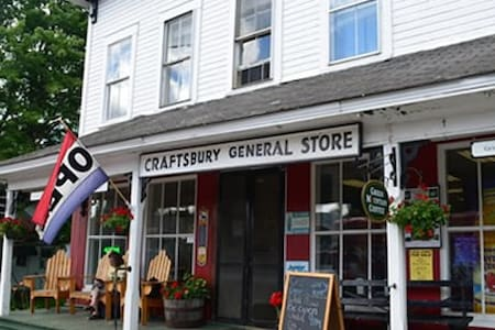 2 Bedroom Apt above the Craftsbury General Store