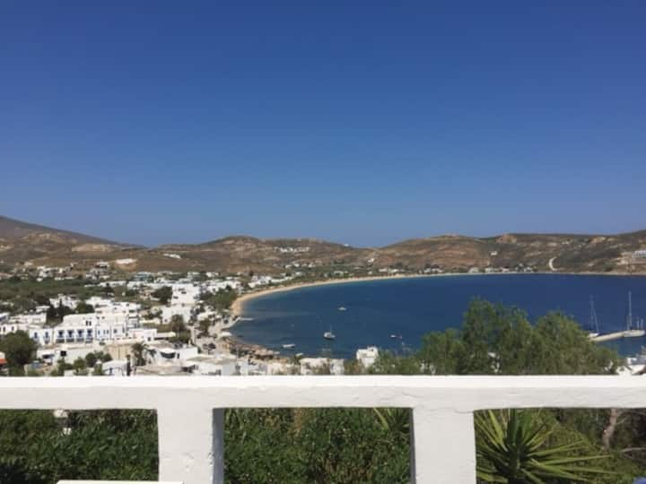 Our panoromic view,  in sun  in shade and calm