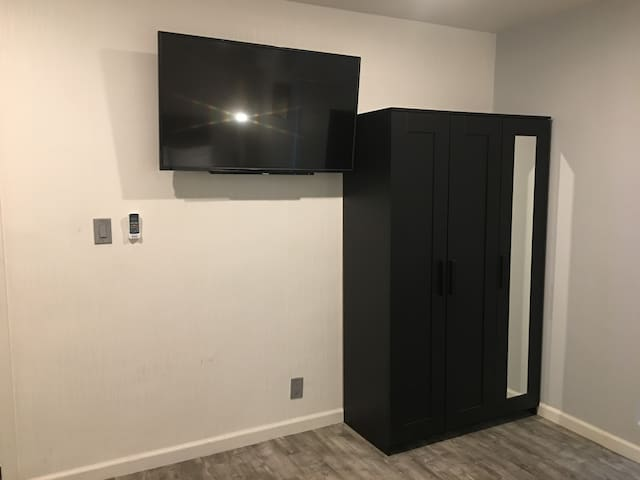 """50"""" HD LED TV and Wardrobe."""
