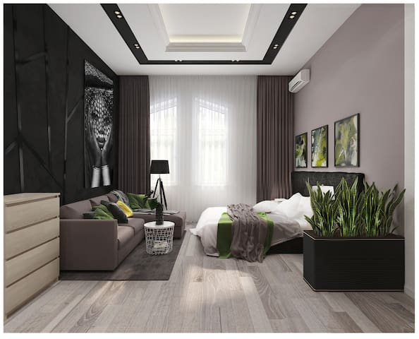 Centre VIP, 2 rooms ,with two beds on 3 Luteranska
