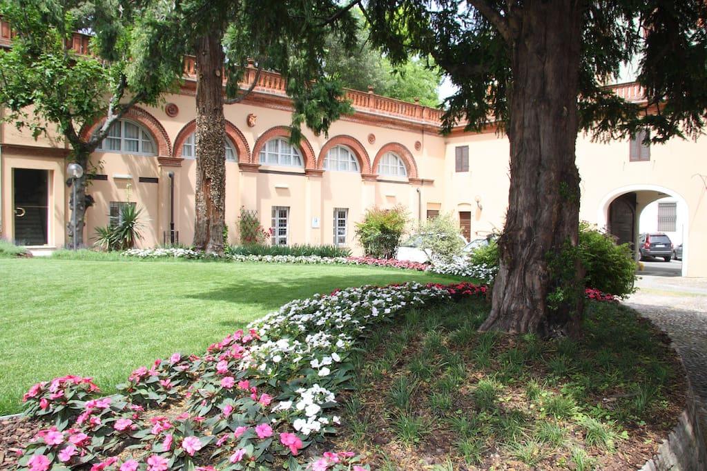il giardino interno del Residence