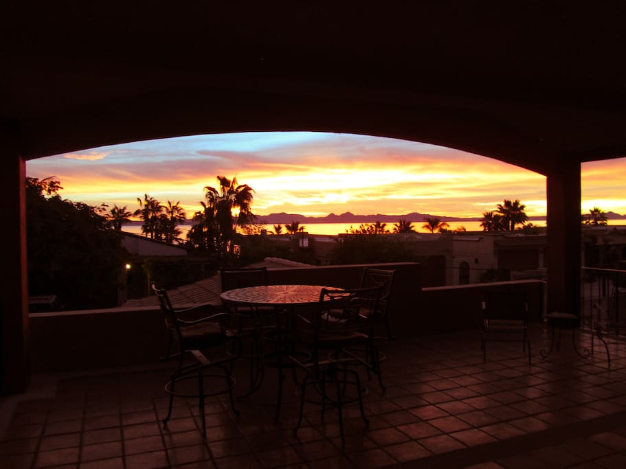 "Enjoy your morning coffee from the ""La Ventana"" covered porch over looking the Sea of Cortez"