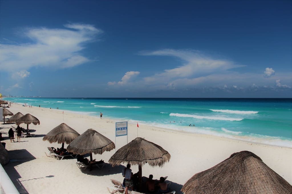 Our gorgeous beach which is not only beautiful but serene and clean with crystal clear water!