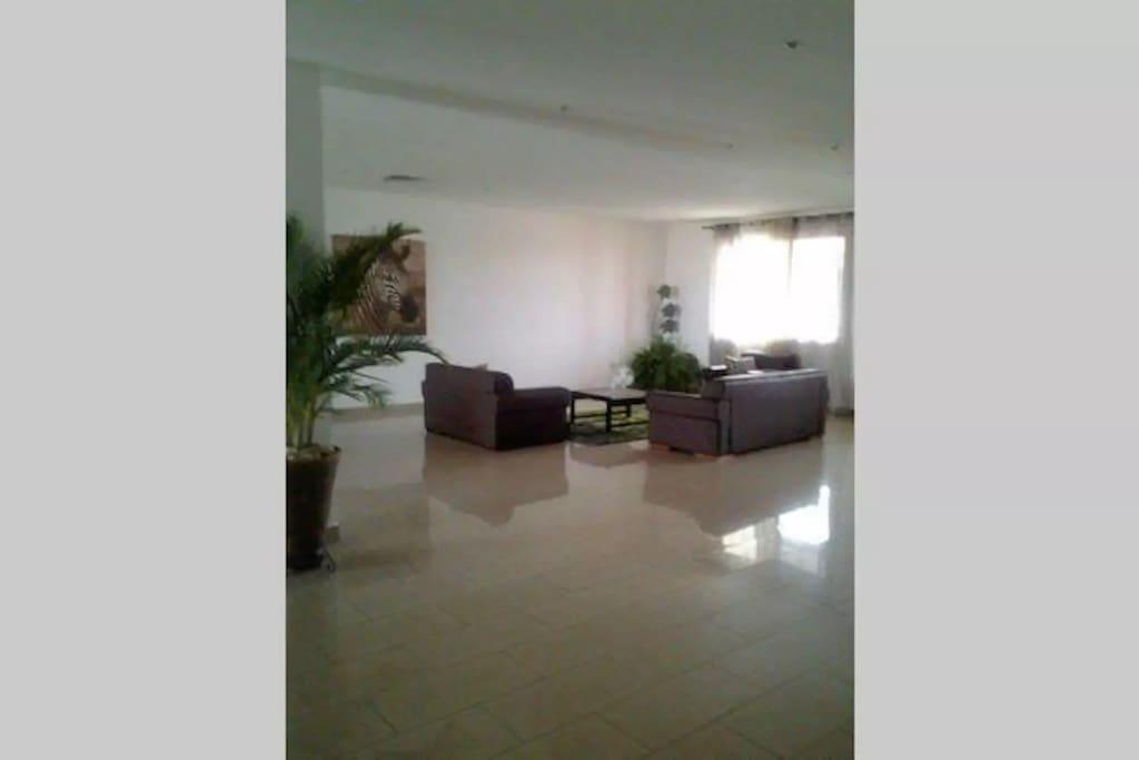 Spacious lounge areas