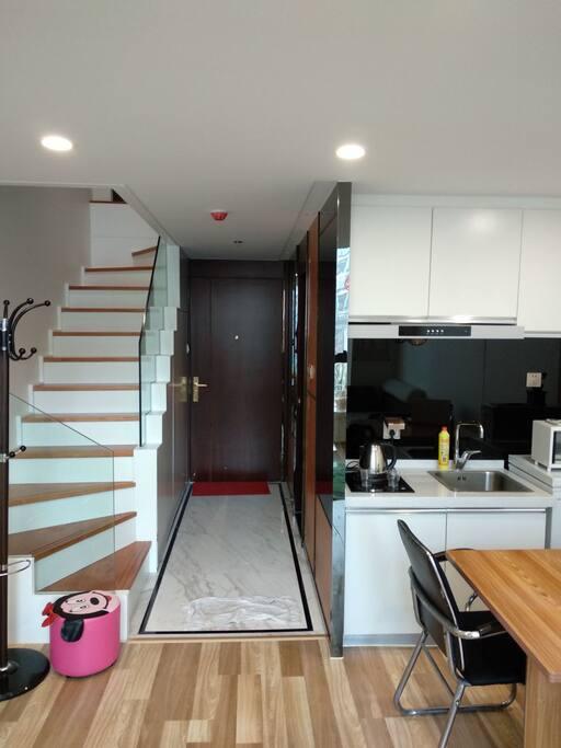 开房的厨房简单的配置