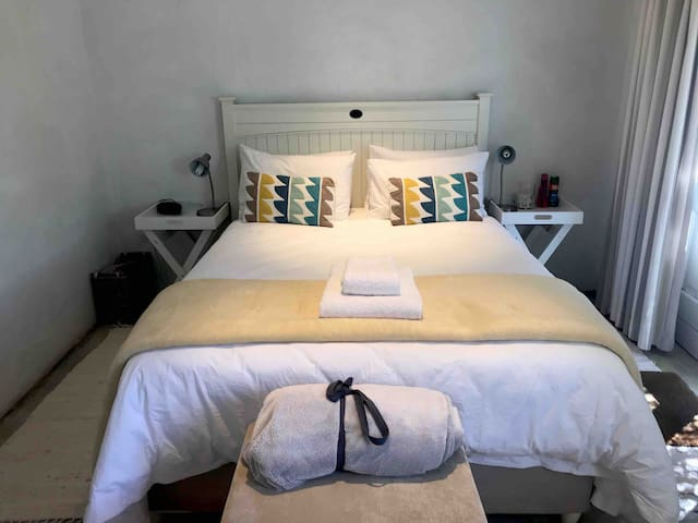Country Cottage Interior double bed with electric blanket in winter