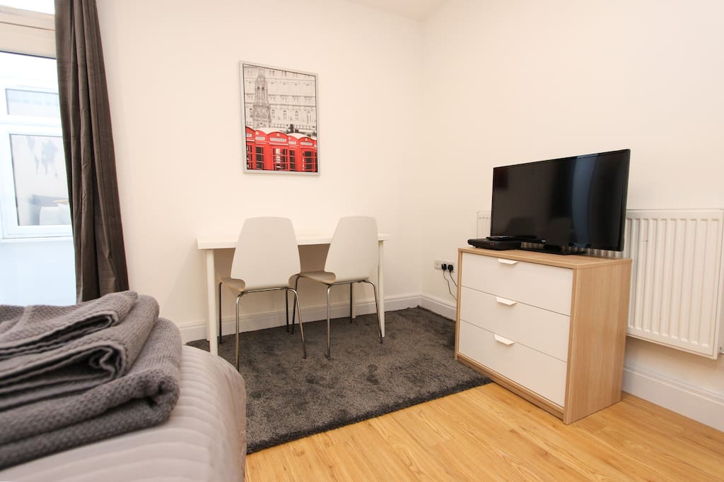Desk & Chairs, LCD TV