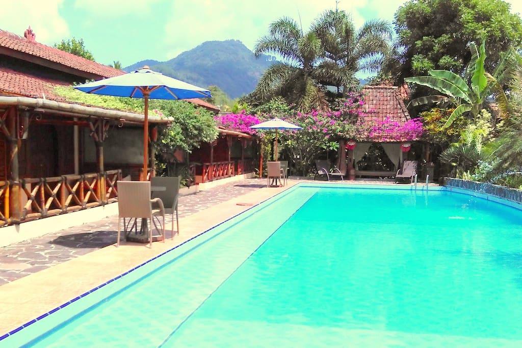 piscine et chambre