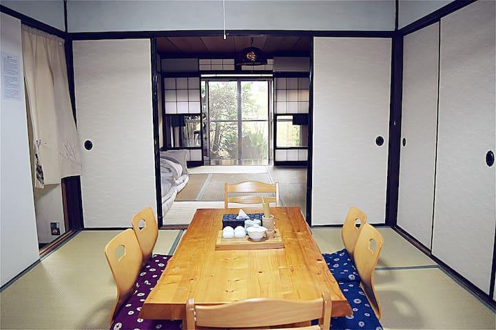 100-years old Japanese building,modern bath. 京町屋