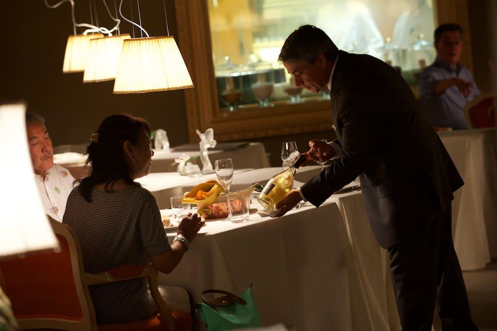 Accoglienza e servizio gourmet