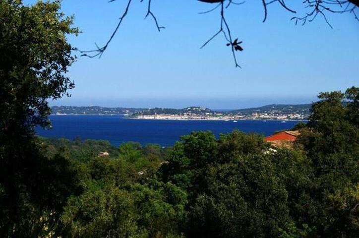 F3 Les Restanques du Golfe de St Tropez vue mer ++ - Grimaud - Apto. en complejo residencial