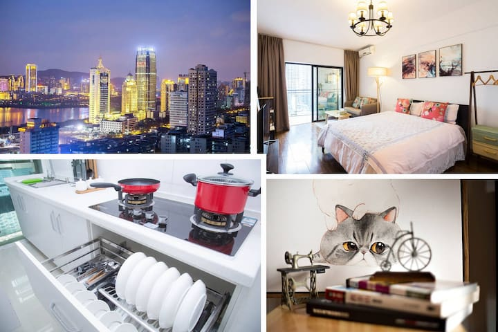City center,private and cozy,great view - Xiamen Shi - Lägenhet
