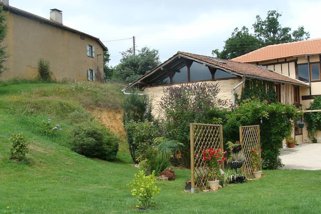 Looking towards the gite from the garden