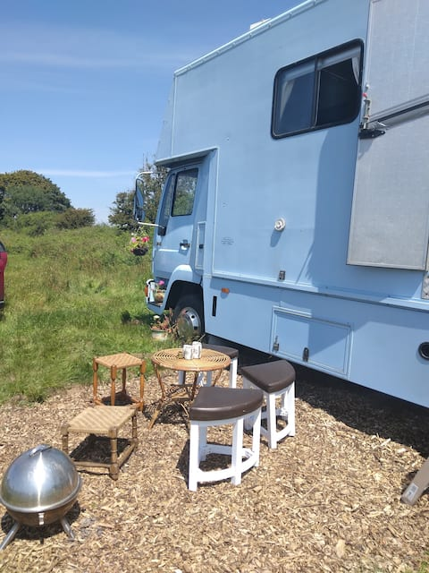 Glas Mawr the biggest blue glamping experience