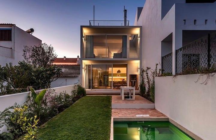 Casa do Côvo - piscina, vista de oceano, casa nova