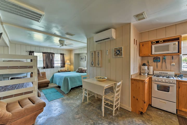 The studio sleeps a total of 4 guests and offers a perfect kitchen space.