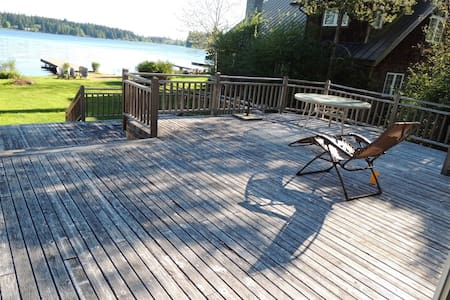 Large Lake Front Home With Private Dock - Kayaks - Shelton - House - 1