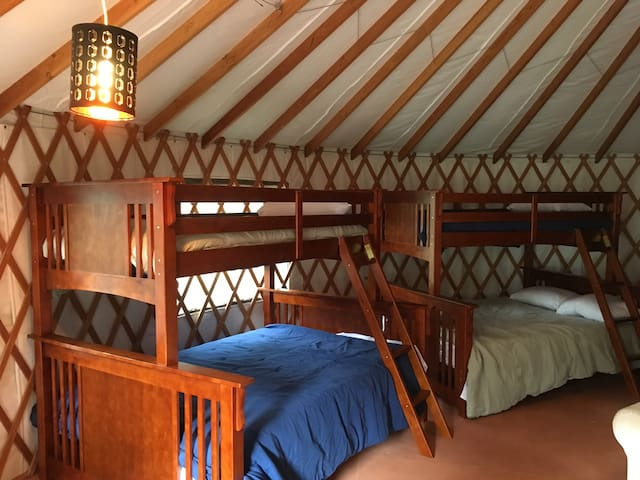 Large Group Yurt in a 20 Acre Community
