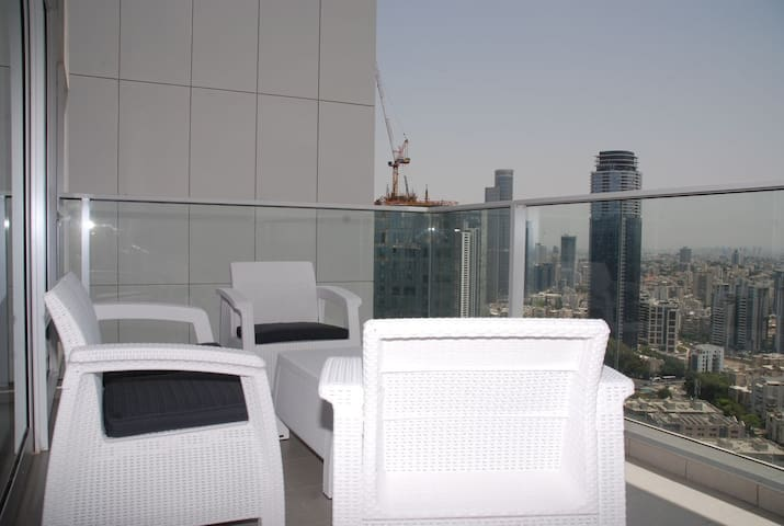 New city view luxury apartment with terrace