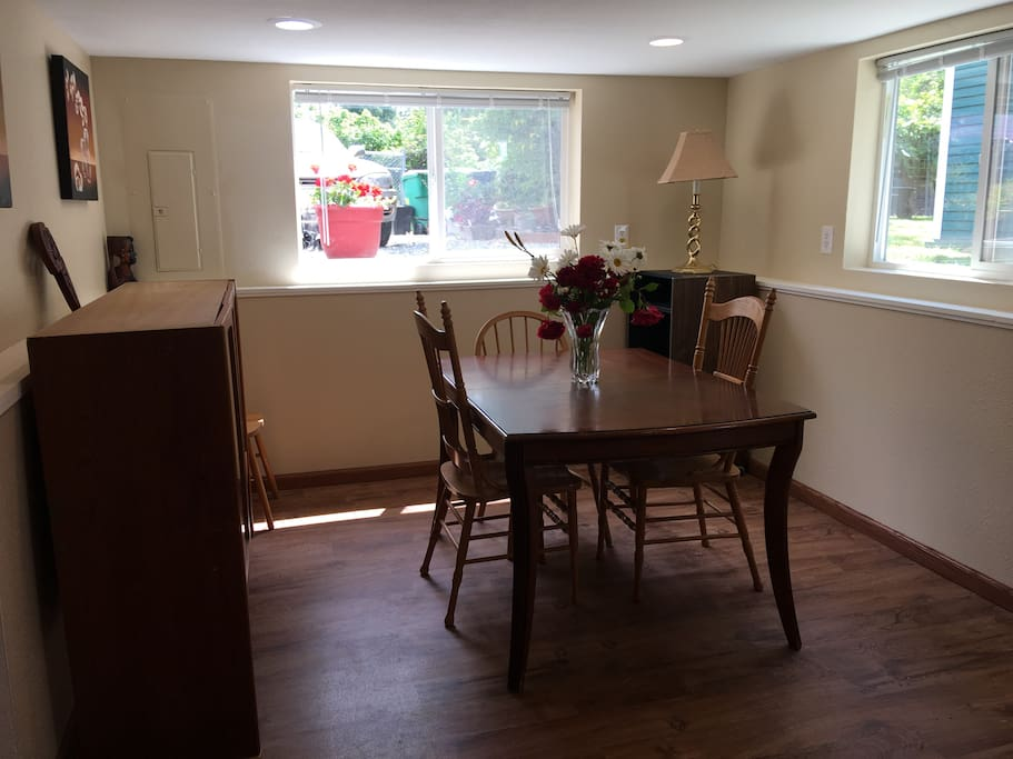 Another view of dining space