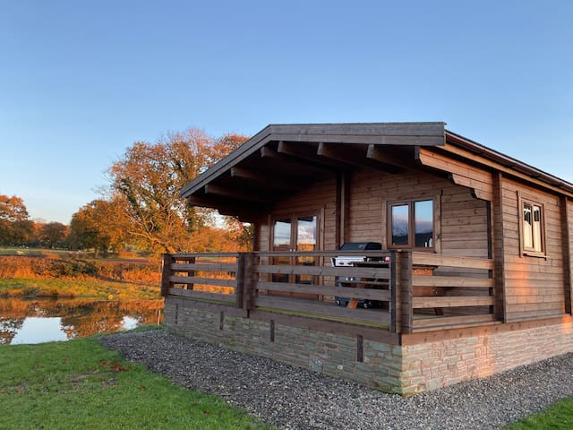 Redwood Lodge nestled amongst Shropshire Hills