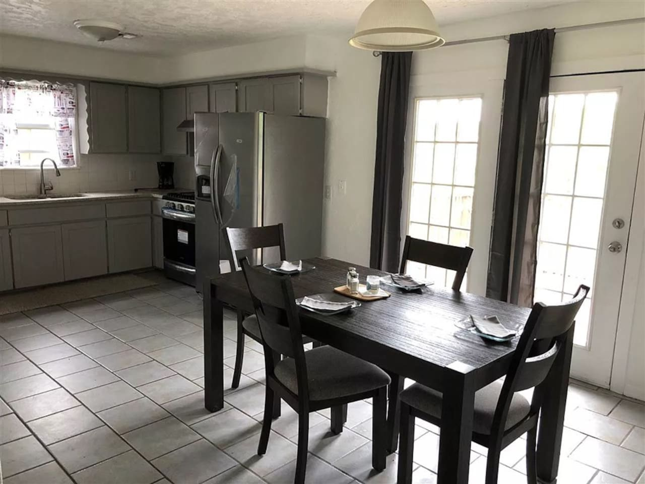 eat in Kitchen leading to back patio