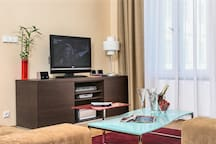 Modern Flat-screen TV in the living area