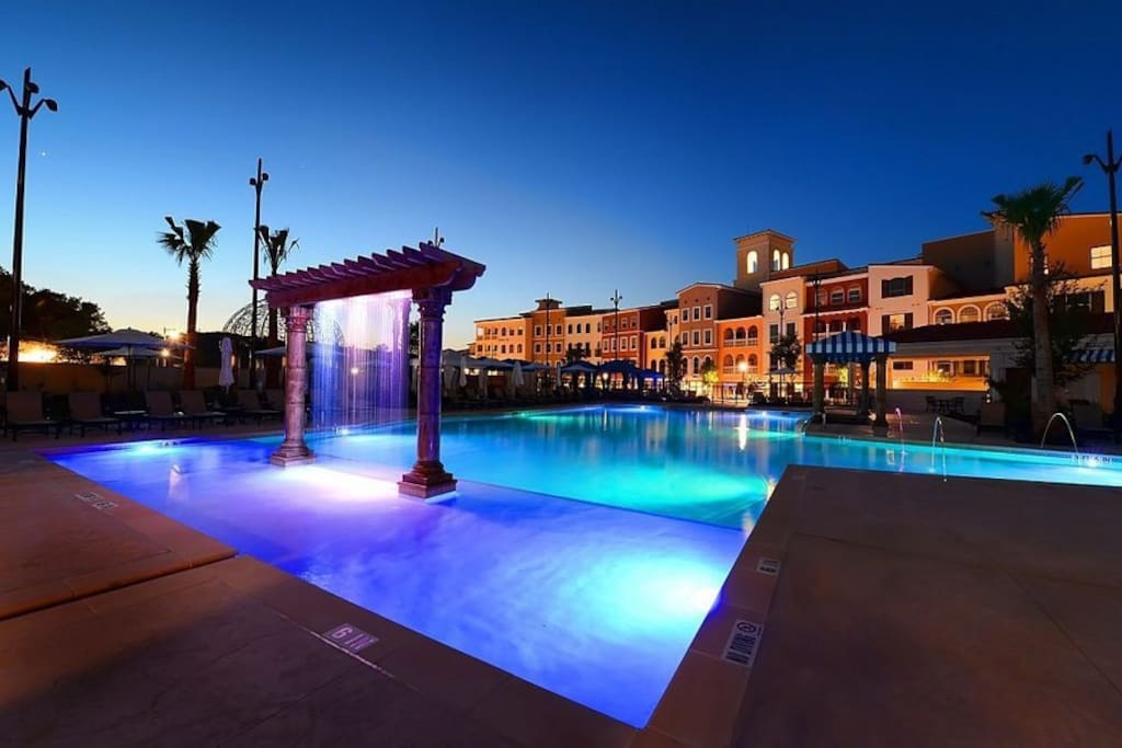 Enjoy the resort pool a few steps away from your stay!