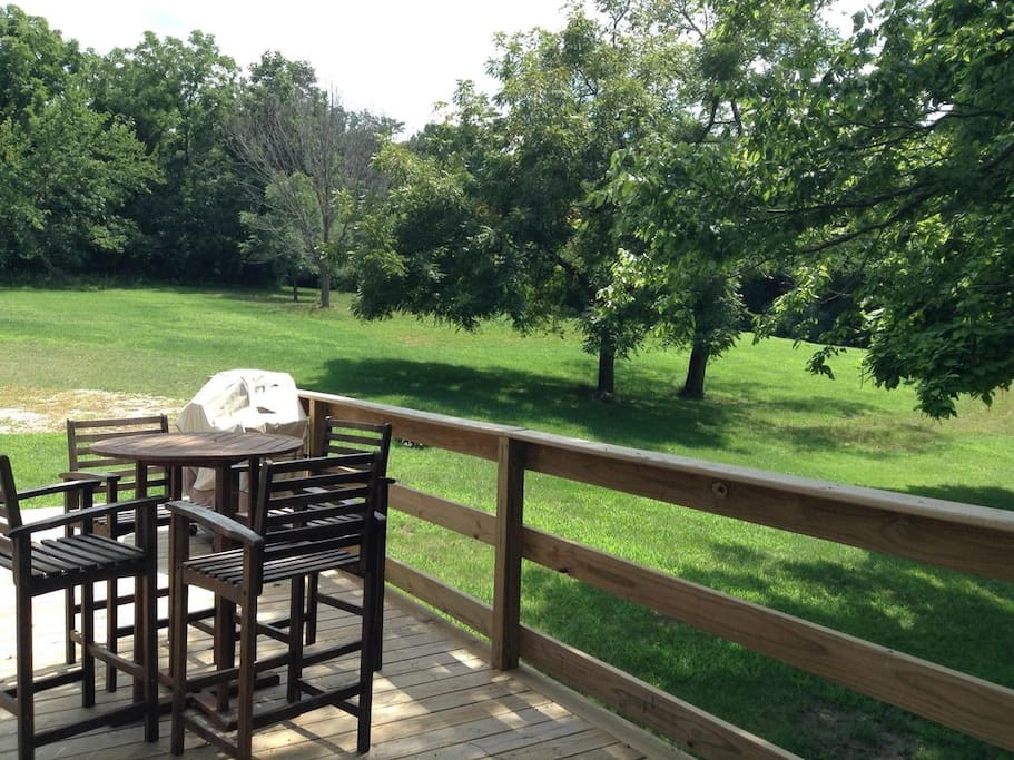 deck and huge acreage