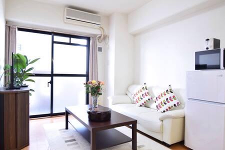 55㎡/2BDR/7people/15mins IKEBUKURO/elevator/wifi - Nerima-ku - Apartamento