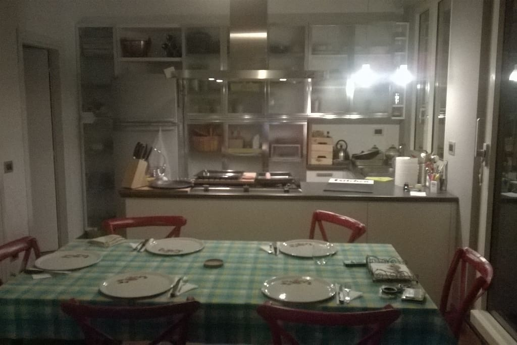 sala da pranzo la sera