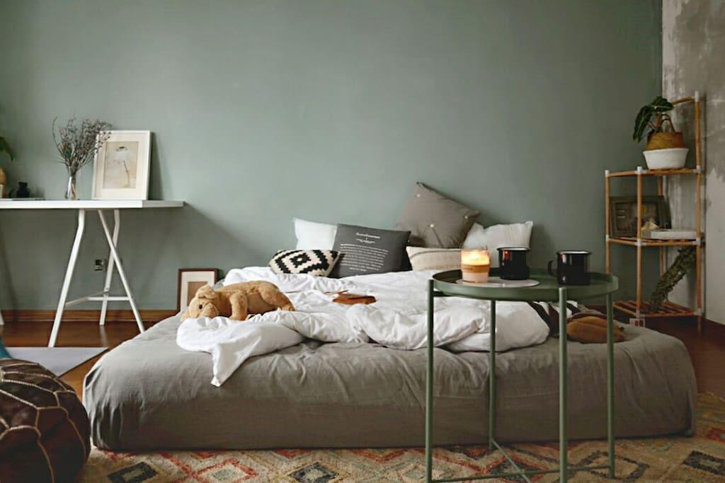 特定的榻榻米大床,温暖又安全