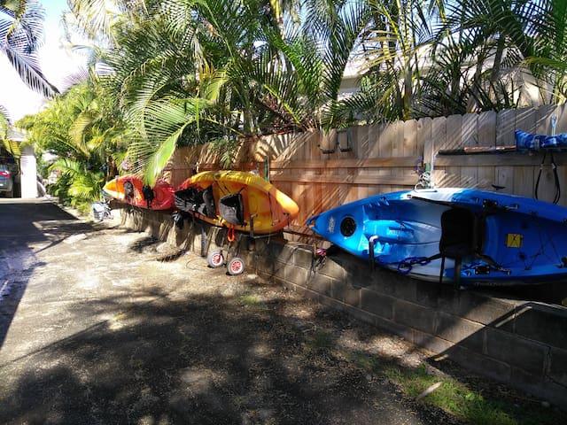 # 3 Private Lanikai Beach community, free Kayaks
