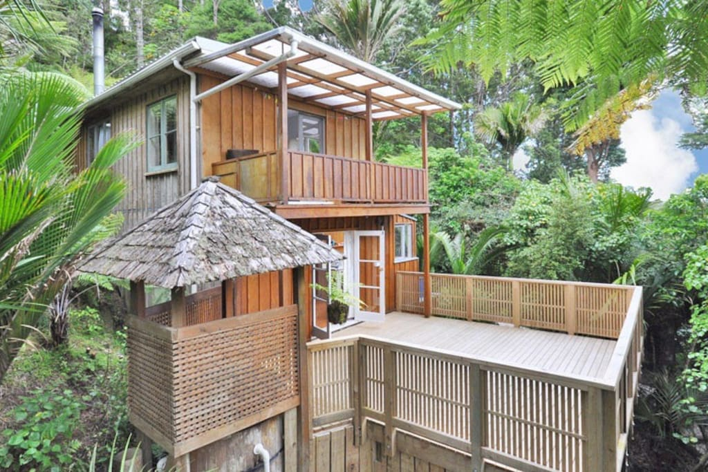 Large deck from the kitchen - with your private balcony off bedroom above