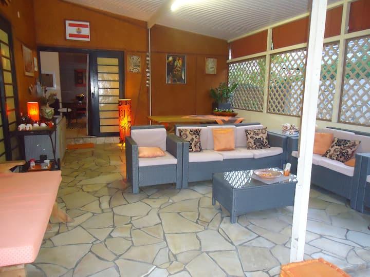 Chambre d'Hôtes sur Papeete avec petit déjeuner