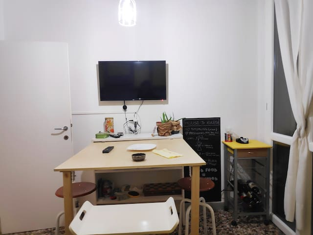 Kitchen with free electric coffee maker