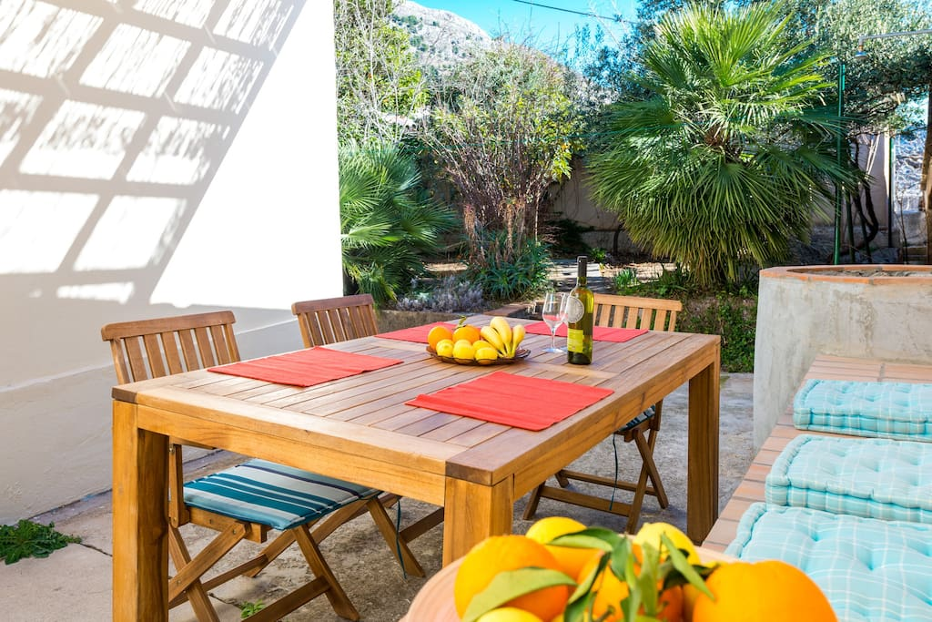 Outdoor terrace and dining area