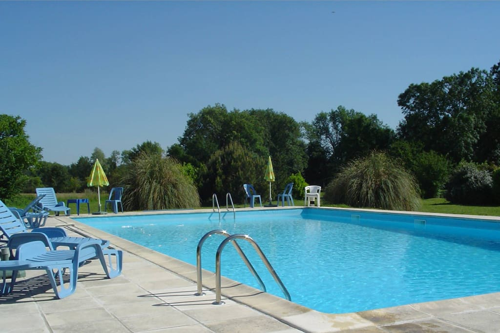 Pool 15m x 8m set in a corner of the parkland