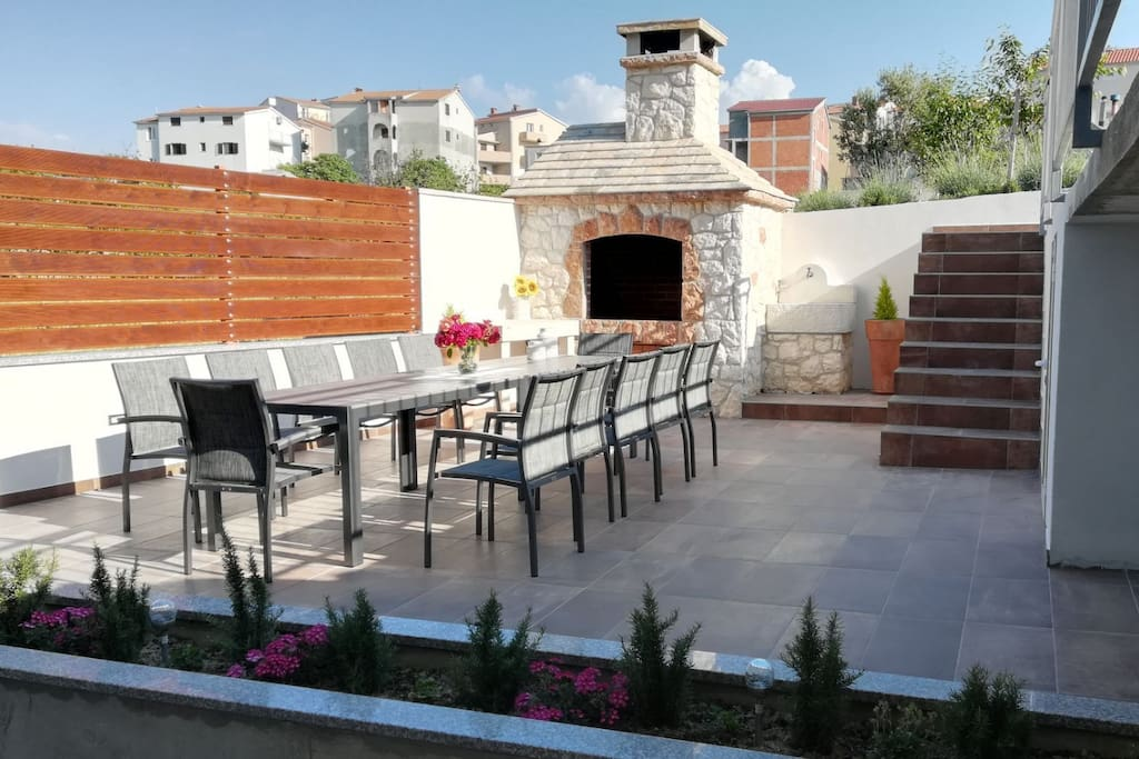 outdoor terrace with BBQ facility