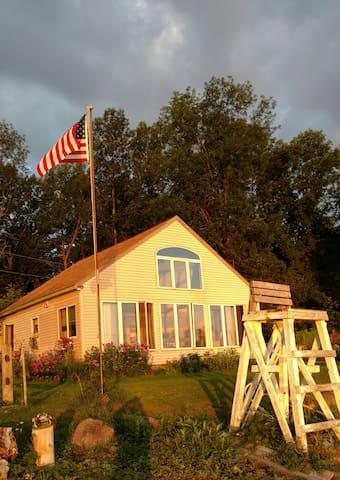 Private, pet friendly, lakefront, cottage.