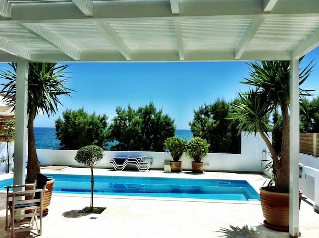Private Modern Seafront Villa with Pool