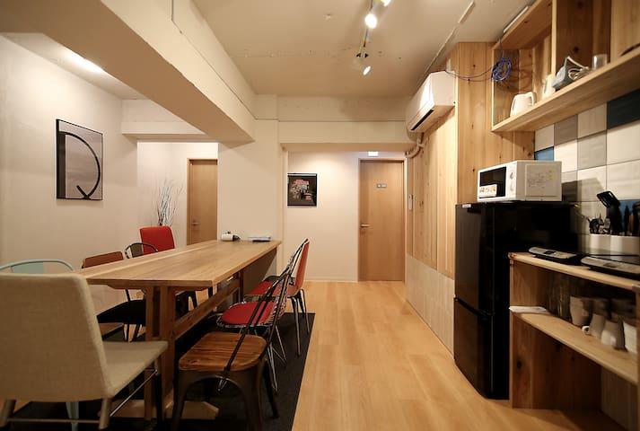 R207-1)宿舍(仅限女性)新宿(神乐坂)*所有房间免费WIFI *