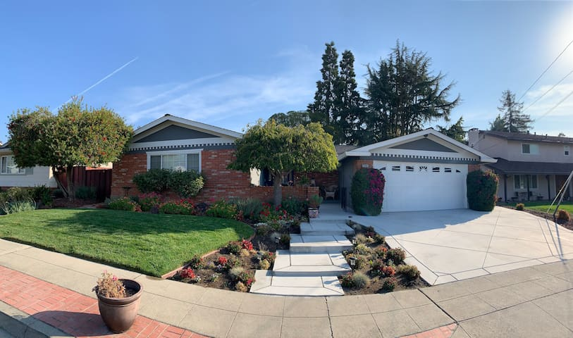West Dublin Sheek Home with colorful gardens
