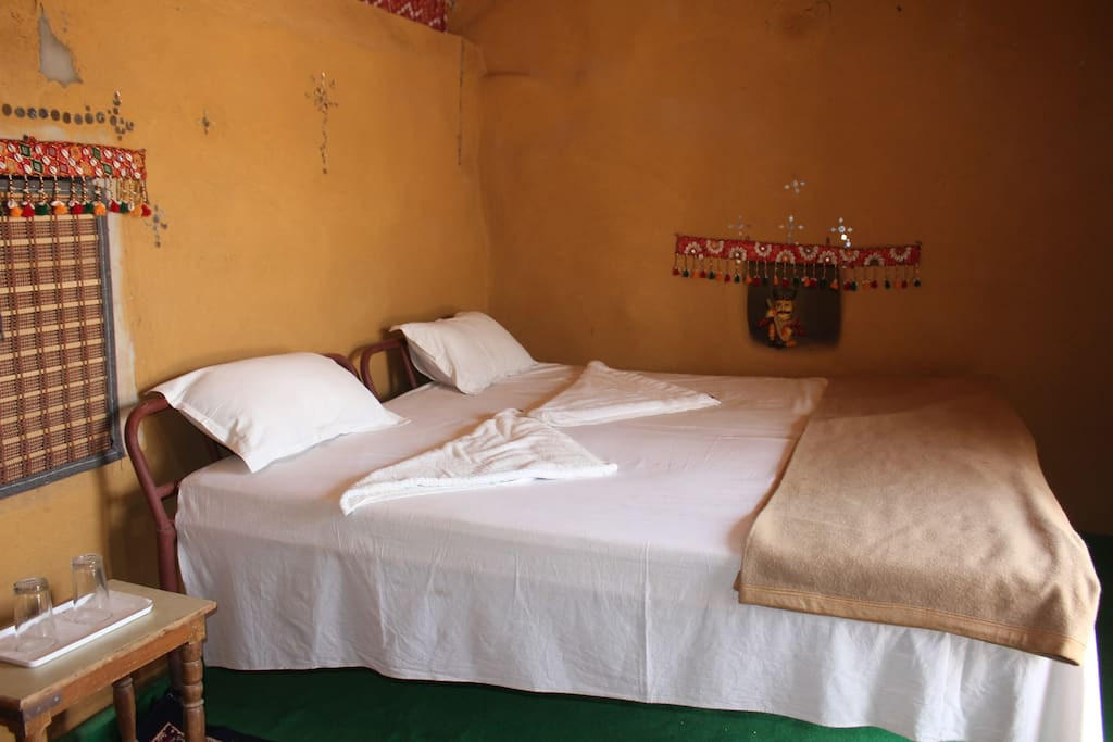 The bedroom in the mud hut