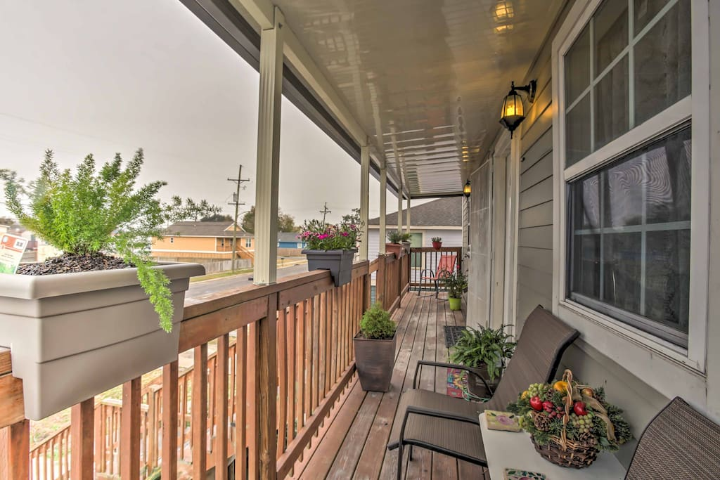 The home features a covered front and back porch where you can sip your morning coffee to start your days.