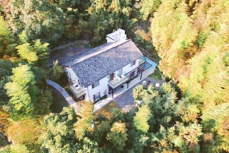 RingingHeights Villa山瑶铃,紧邻莫干山景区,登山步道上,山顶地暖私密泳池度假别墅