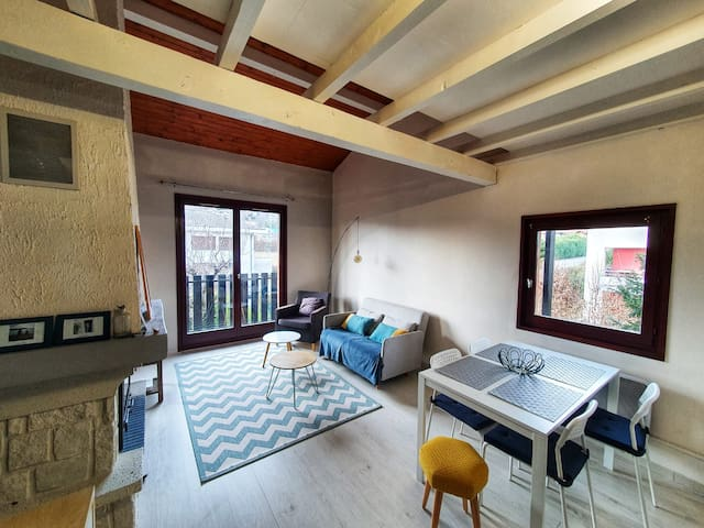 Duplex apartement with garden/balcony near Annecy