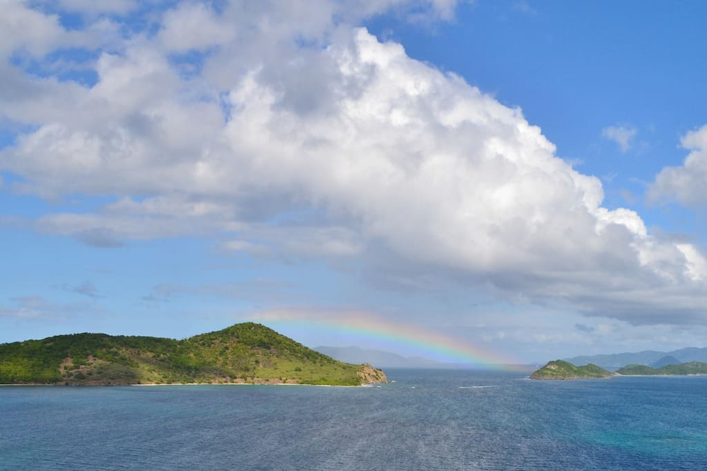 Beautiful views towards St John from your private balcony.