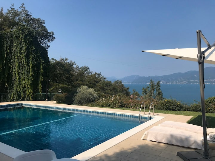 Torri del Benaco - Haus C Garten, Seeblick, Pool